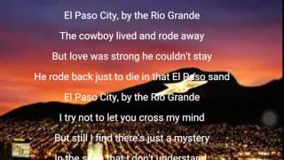 El Paso City lyrics by Marty Williams