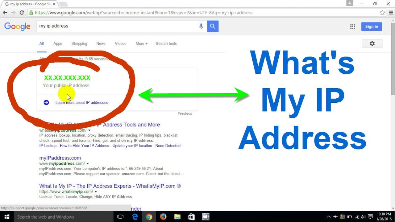 What Is My >> How To Find Your Ip Address What Is My Ip Windows 10 8 1