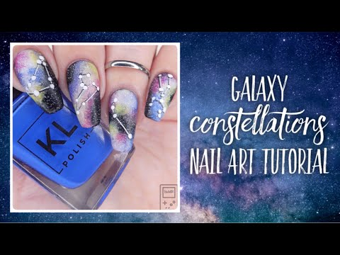 GALAXY & CONSTELLATIONS Nail Art Tutorial | bwidix thumbnail