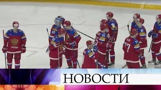 Четвертьфинал чемпионата мира похоккею Россия— Чехия покажет Первый канал.