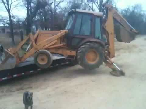 Loading A Backhoe With No Ramps