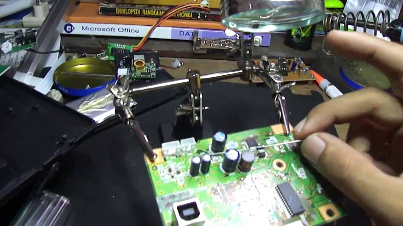 Memperbaiki Main Board Printer Epson Youtube