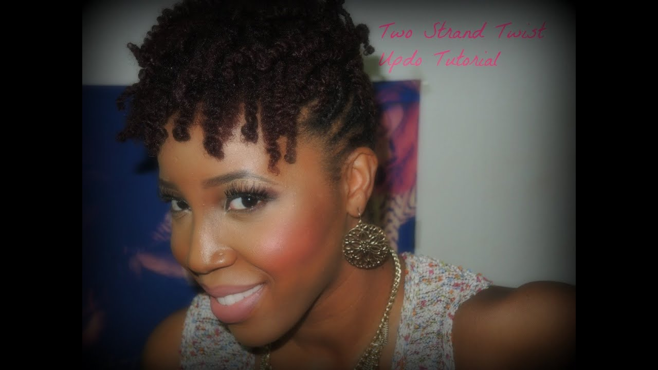 hair styles 2 strand twist two strand twist updo tutorial 3584