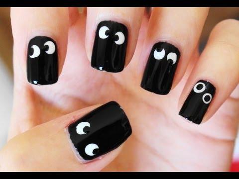 halloween spooky eye nail art  youtube