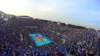 19-06-2015: Italia-Brasile al Foro Italico, l'inno italiano dall'alto