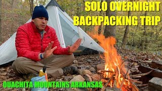 Solo Overnight Backpacking Tŗip Full of Surprises!: Caney Creek Wilderness Arkansas