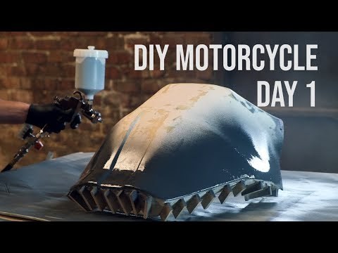 Making a Carbon Fiber Motorcycle Rally Fairing - DAY 1