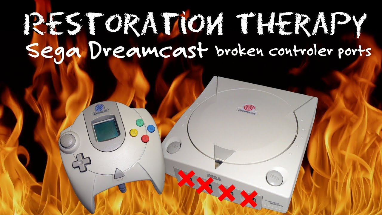 Sega Dreamcast Broken Controller Port Repair
