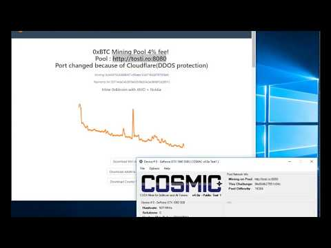Getting Started Mining 0xBitcoin (0xBTC) with Cosmic 4.0a Public Test
