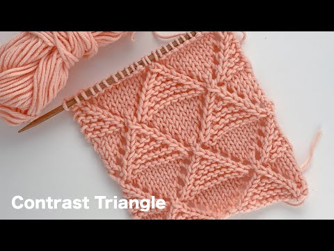 Contrast Triangle | Knitting Stitch Pattern For Sweater