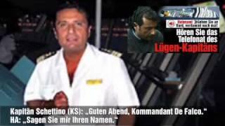 Costa Concordia - Francesco Schettino Telefonat (deutsche Übersetzung)