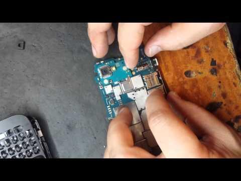 BlackBerry Q5 замена слота SIM карты