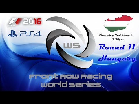 Front Row Racing World Series Round 11 Hungary F1 2016