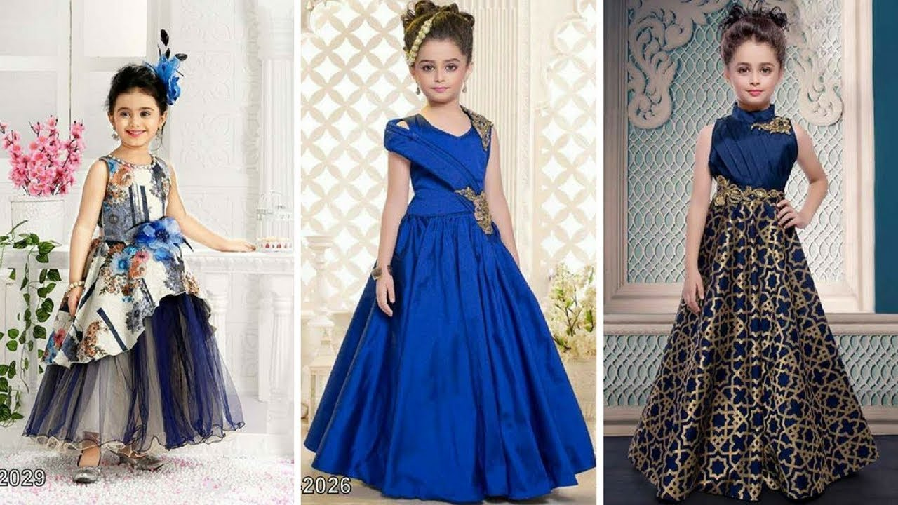 Latest Party Wear gowns for kids/ latest Anarkali gowns for baby ...