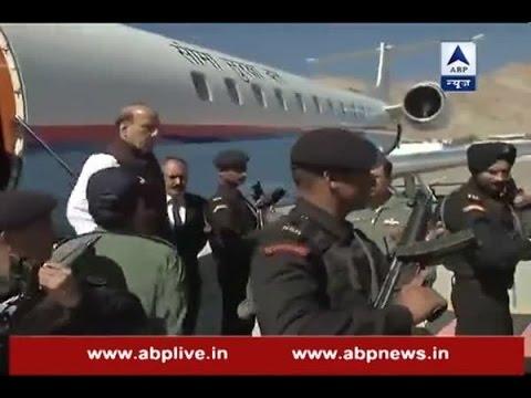Home Minister Rajnath Singh reaches Leh