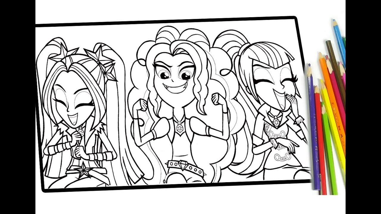 My little pony Equestria girls coloring for kids MLP coloring book ...