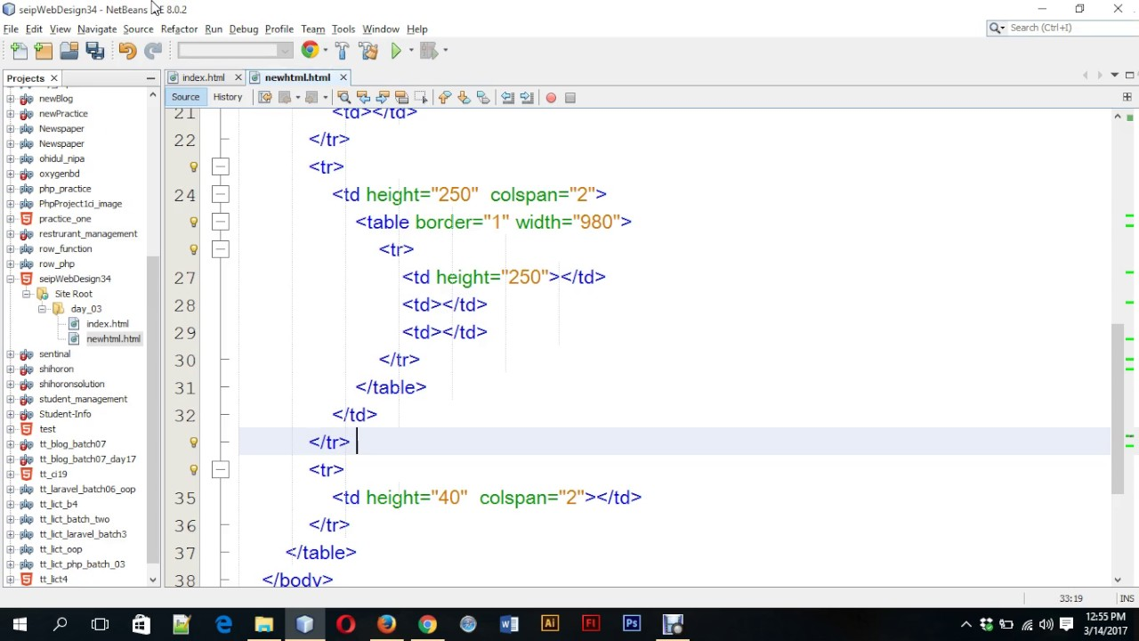 Day 03 P2 Html Table Layout Nested Table Layout Favicon Heading Paragraph Image