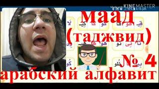 арабский алфавит( + урок таджвид) с арабом из книги нур  аль баяан ! урок № 4 {мады}{польный урок}