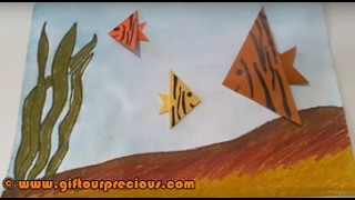 Origami Angel Fish - Simple and Easy Paper Art Crafts for Kids and Everbody