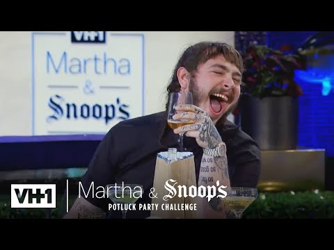 Martha Stewart Wonders Why Post Malone Came To Dinner | Martha & Snoops Potluck Dinner Party