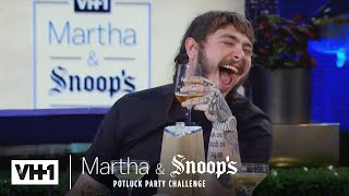 martha stewart wonders why post malone came to dinner martha snoops potluck dinner party