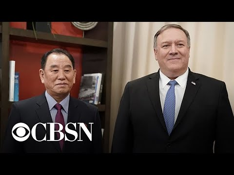 Pompeo meets with top North Korean diplomat in Washington
