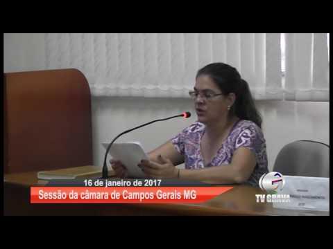 Sessão da câmara de Campos Gerais- MG 16/01/ 2017