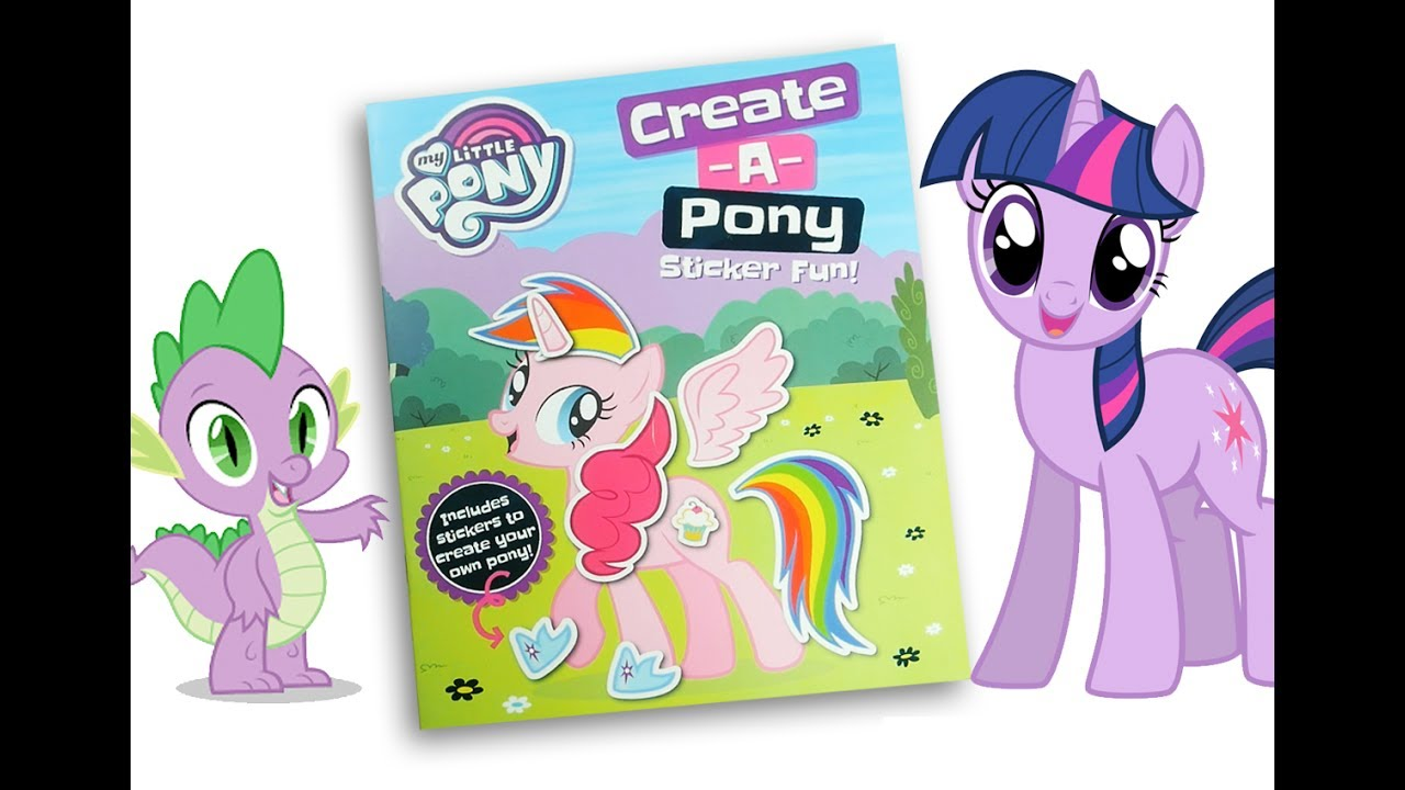 - My Little Pony Activity Book MLP Create A Pony - YouTube