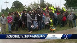 Family, coworkers gather to remember two Waste Management employees killed in crash