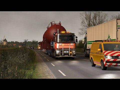 ETS2 1.30.2.2s (Vive la France+Special Transport DLC) - Renault Range T - Nantes (F) - Civaux (F)