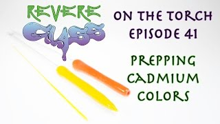 How to make Cadmium color Prep work (bright colors)  || REVERE GLASS ||