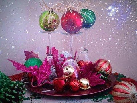 Como hacer un adorno para navidad adorno de mesa youtube - Adornos navidenos para mesas ...
