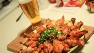 Куриные крылышки к пиву в духовке. В медовом соусе.