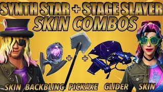 """Stage Slayer""+""Synth Star"" SKIN BEST BACKBLING + SKIN COMBOS! (Fortnite Battle Royale) (2018)"