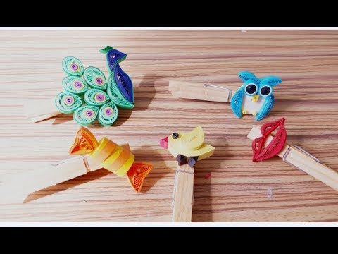 DIY Paper Quilling Flower For beginner Learning video 39// Paper Quilling Clipper