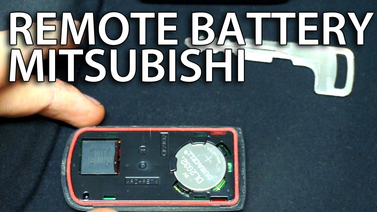 How To Replace Battery In Mitsubishi Key Fob Remote Lancer