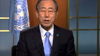 "UN Secretary-General message ""International Year of Water Cooperation 2013"""