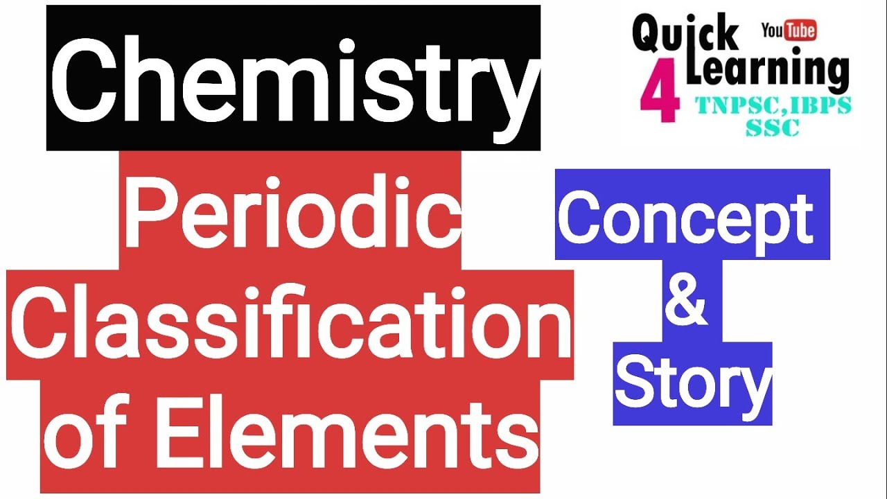 Periodic Cl Ification Of Elements Chemistry In Tamil Tnpsc Science In Tamil