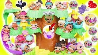LOL Surprise Dolls Lil Sisters in Hatchimals Tree House