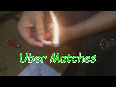 Homemade Stormproof Uber Matches - Survival Hack
