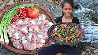 Cooking Chicken stomach with Tomato and Peppers for Lunch food ideas - Food shows & eater Ep 40