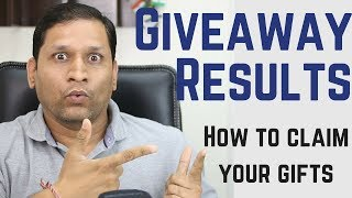 7 Giveaway Results | How To Claim Your Giveaway