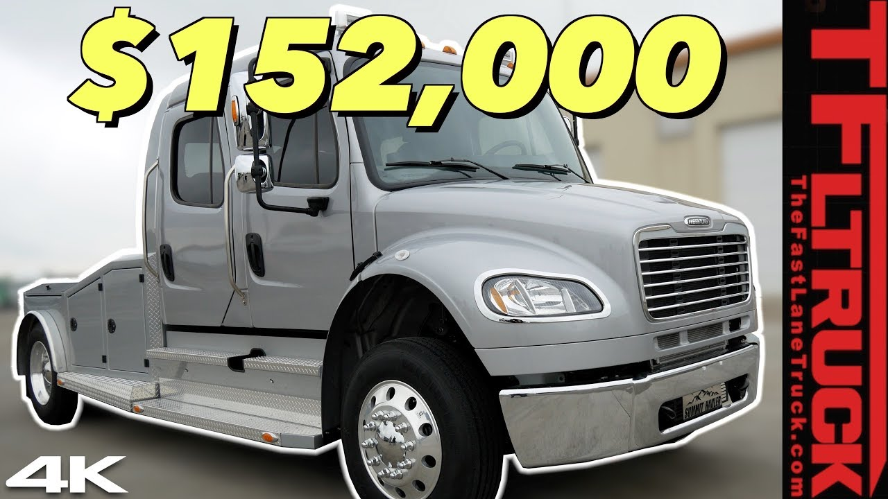 move over dually this 2020 freightliner m2 summit hauler big rig will do everything and so much more video  [ 1280 x 720 Pixel ]