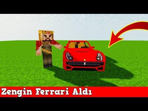 ZENGİN VS FAKİR #128 - Zengin Ferrari Aldı (Minecraft) thumbnail