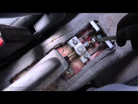 How to adjust and setup hand brake Honda Civic. Years 1992 to 2002