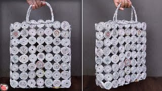 Carry Bag Making at Home || Best Out of Waste News Paper Craft || Handmade Things