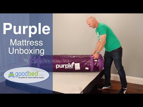 Purple Mattress Unboxing by GoodBed.com