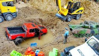 자동차 장난감 블럭 색깔놀이 포크레인 트럭놀이 Car Toy Play with Excavator