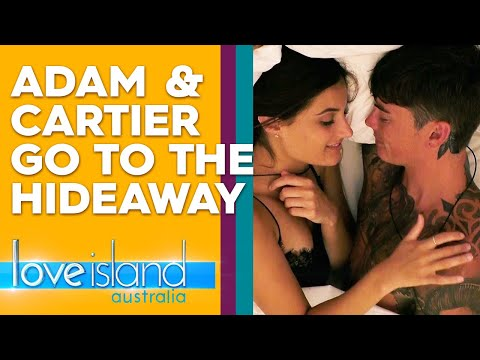 Adam and Cartier spend a night together in the Hideaway  Love Island Australia 2019