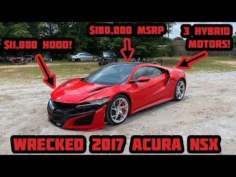 I Bought a WRECKED 2017 Acura NSX at Salvage Auction and Im